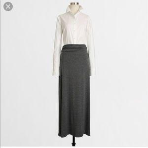 JCrew Jersey Maxi Skirt
